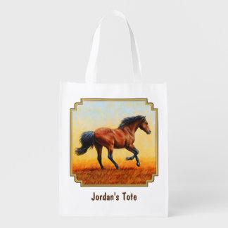 Bucht-Pferdegaloppieren Wiederverwendbare Einkaufstasche