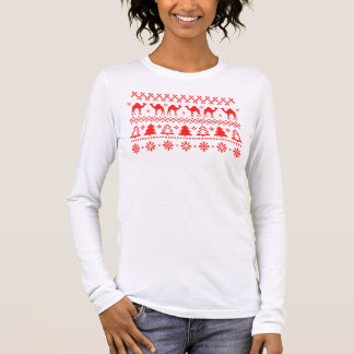 Buckel-Tageskamel-hässlicher Langarm T-Shirt