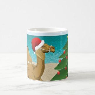 Buckel-Tageskamel mit der Kaffeetasse