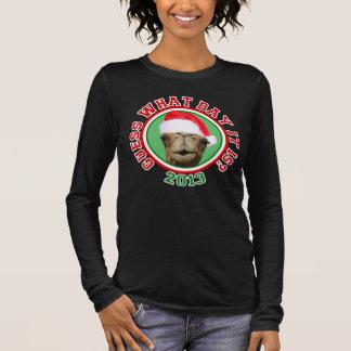 Buckel-Tageskamel-Sankt-Weihnachten 2013 Langarm T-Shirt