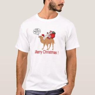 Buckel-Tageskamel-Weihnachten mit Sankt T-Shirt
