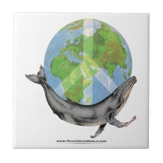 Buckel-Wal-Friedensentwurf Keramikfliese