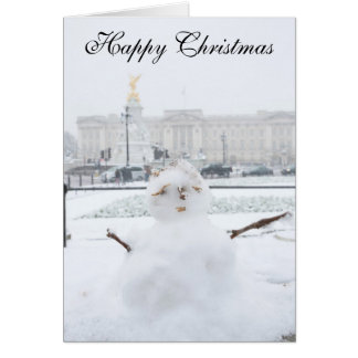 Buckingham Palace-Schneemann London Karte