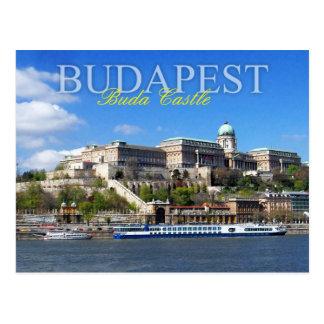 Buda Schloss-übersehenfluß Donau in Budapest Postkarte