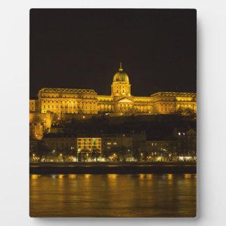 Buda Schloss Ungarn Budapest nachts Fotoplatte
