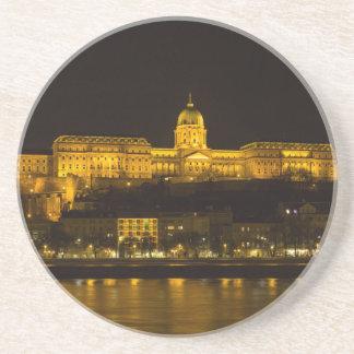 Buda Schloss Ungarn Budapest nachts Getränkeuntersetzer