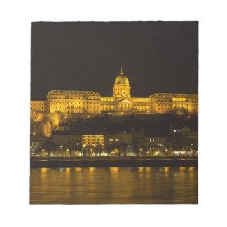 Buda Schloss Ungarn Budapest nachts Notizblock
