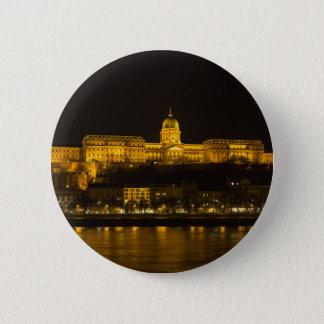 Buda Schloss Ungarn Budapest nachts Runder Button 5,7 Cm