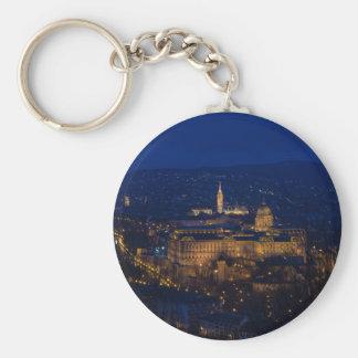 Buda Schloss Ungarn Budapest nachts Schlüsselanhänger