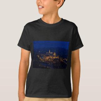 Buda Schloss Ungarn Budapest nachts T-Shirt