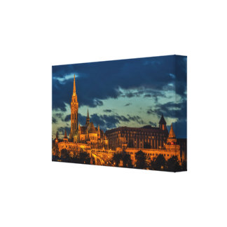 Budapest am NachtLeinwand-Druck Leinwanddruck