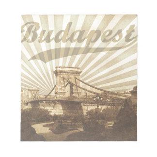 Budapest Chain Bridge Vintage Notizblock