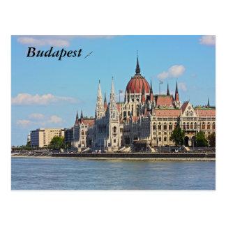 Budapest, das Gebäude des Parlaments, Budapest Postkarte
