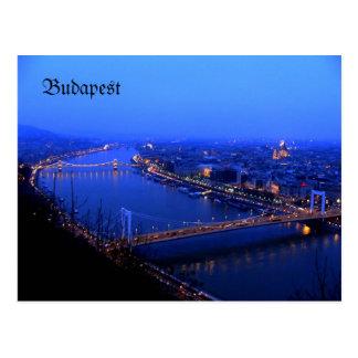 Budapest kilato, Budapest-Postkarte Donau Postkarte