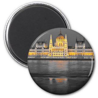 Budapest-Lichter Runder Magnet 5,1 Cm