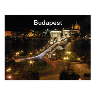 Budapest nightscape postkarte