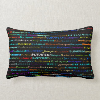 Budapest-Text-Entwurfi Lumbar-Kissen Lendenkissen