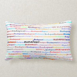 Budapest-Text-Entwurfii Lumbar-Kissen Lendenkissen