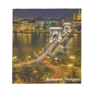 Budapest, Ungarn Notizblock