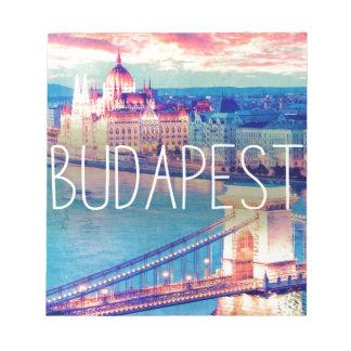Budapest, vintage, Plakat Notizblock