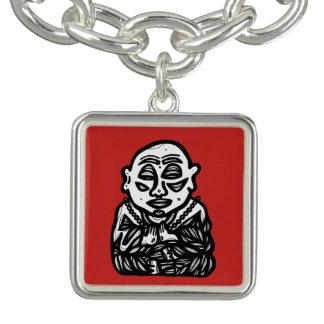 """Buddha beten"" quadratisches Charme-Armband Charm Armbänder"