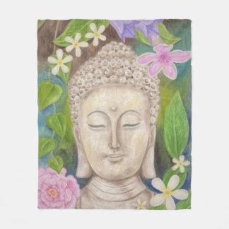 Buddha-Blumen-Fleece Fleecedecke