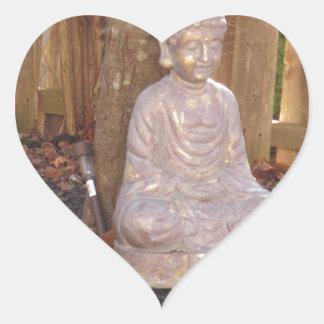 Buddha-Buddhismus-Religions-geistiger Herz-Aufkleber