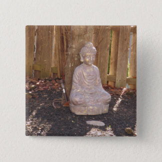 Buddha-Buddhismus-Religions-geistiger Quadratischer Button 5,1 Cm