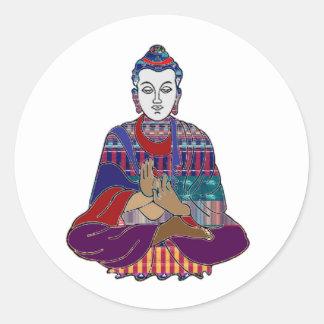 Buddha-Buddhismusreligionsfriedensanbetungsheilen Runder Aufkleber