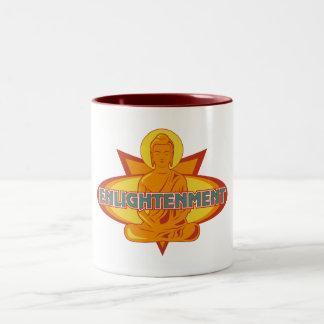 Buddha-Erleuchtung Zweifarbige Tasse