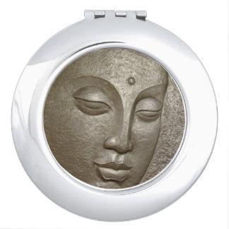 Buddha face grey schminkspiegel