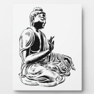 Buddha Fotoplatte