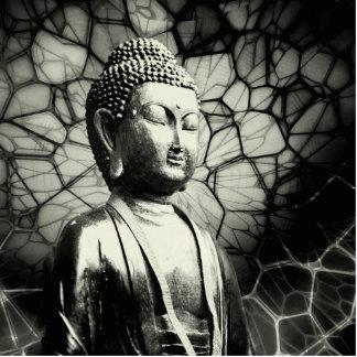 Buddha Fotoskulptur Button