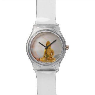 Buddha-Gold Uhr