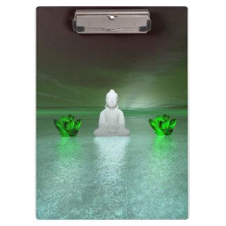 Buddha-Grün und Wasserliliengrün Klemmbrett