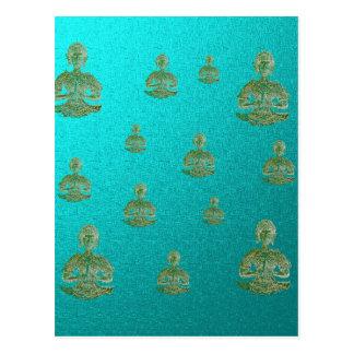 Buddha im Blau Postkarte