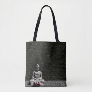 Buddha im grauen Raum - 3D übertragen Tasche