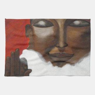 Buddha im Himmel Geschirrtuch