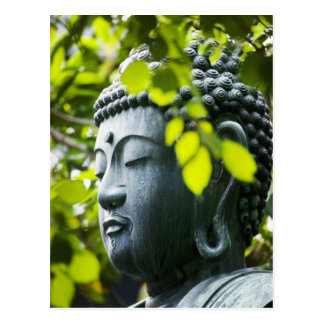Buddha im Senso-ji Tempel-Garten Postkarte