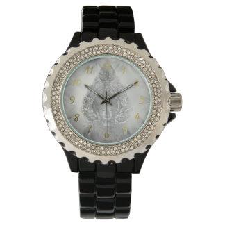 Buddha im Silber Armbanduhr