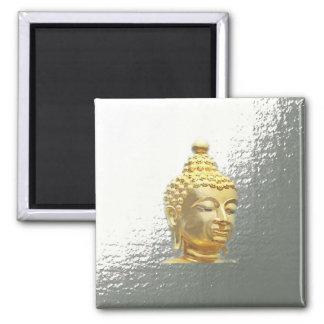 Buddha im Silber Quadratischer Magnet