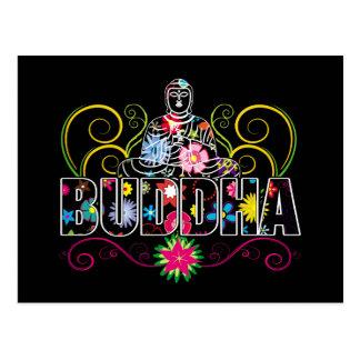 Buddha in den Blumen Postkarte