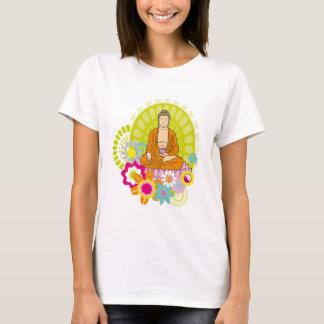 Buddha in den Frühlings-Blumen T-Shirt