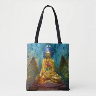 Buddha in der verzierten Nische Tasche