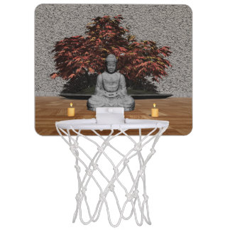 Buddha in einem Raum - 3D übertragen Mini Basketball Ring