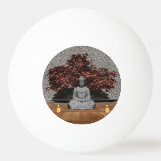 Buddha in einem Raum - 3D übertragen Ping-Pong Ball