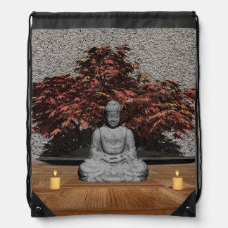 Buddha in einem Raum - 3D übertragen Sportbeutel