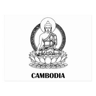 Buddha Kambodscha Postkarte