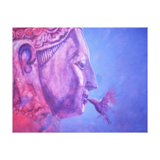 Buddha Kiss Leinwanddruck
