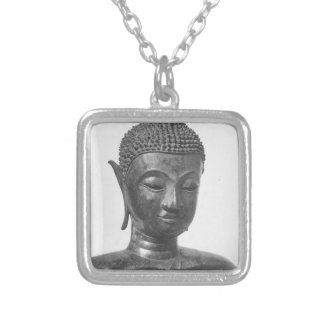 Buddha-Kopf - 15. Jahrhundert - Thailand Versilberte Kette